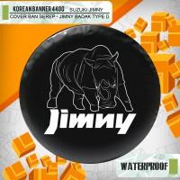 """Cover ban custom SUZUKI JIMNY """" Badak angry """" / sarung ban Jimny"""