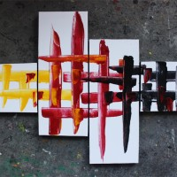 Lukisan Abstrak - Interior Rumah Minimalis