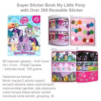Super Sticker Book My Little Pony with Over 200 Reusable Sticker