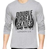 t shirt kaos double skates long sleeve lengan panjang misty
