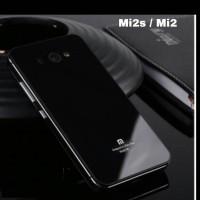 Mi2s/mi2 xiaomi casing belakang aluminium glass model iphone style