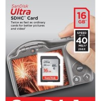 SanDisk SD Ultra 16 GB Speed 40 MBps / Memori Sandisk