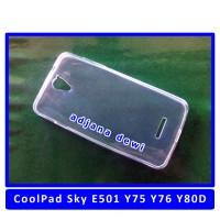 Silikon CoolPad Sky E501 Y75 Y76 Ultrathin Soft Jelly Cover Case Putih
