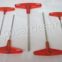 Kunci Hexagonal dengan Handle T 5Pcs No.108-1 EIGHT JAPAN