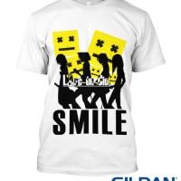 KAOS LARC EN CIEL - SMILE TSHIRT GILDAN SOFTSTYLE 1