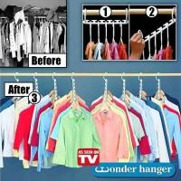 Magic Hanger / Wonder Hanger / Hanger Ajaib Gantungan Baju Banyak Mode