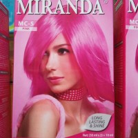 pewarna cat rambut Miranda Hair Color pink