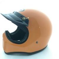Helm Cakil Orange Glossy / Helm Cakil HBC / Helm Cakil SNI / Helm