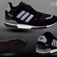 Sepatu Adidas ZX 750 Black Lis Grey Pria Sporty Jalan Santai