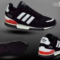 Sepatu Adidas ZX 750 Black Lis White Pria Sporty Jalan Santai