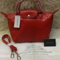 New Tas Longchamp Red Size S (Kulit)
