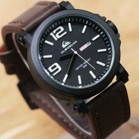 Jam Tangan Pria / Cowok Quiksilver Daydate 129 Leather Diskon