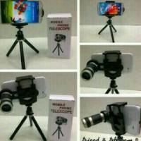 harga universal mini tripod teleskop 8x zoom lens mobile phone Tokopedia.com