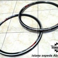 New Rims Velg Sepeda Alexrims G6000 Black Hitam Ukuran 700c Lubang 36