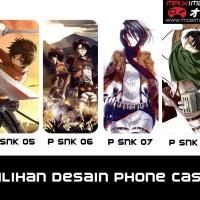 Jual Hardcase HP tema Attack on Titan - SNK (Bisa Request Gambar) Murah