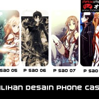 Softcase HP tema Sword Art Online (Bisa Request Gambar)
