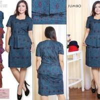 Dress Batik Murah - Batik Dress Jumbo Clarissa