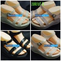 harga sepatu sandal jelly wedges model korea (zakhruf3) Tokopedia.com