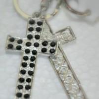 Gantungan Kunci Silver Premium Salib