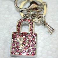 Gantungan Kunci Silver Premium Gembok