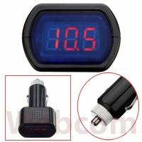 harga Car LCD Battery Voltage Meter Monitor / Alat Cek Tegangan Aki Mobil Tokopedia.com