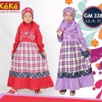 Baju Muslim Keke GM 338 Gamis Anak Katun Cantik Lucu