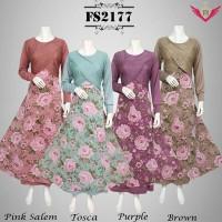 maxi dress busana muslim gamis wanita baju pesta batik kebaya