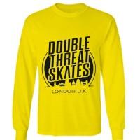 t shirt kaos double skates long sleeve lengan panjang kng