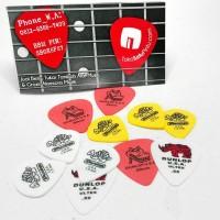 6pcs Pik Gitar Dunlop Tortex dan Ultex USA