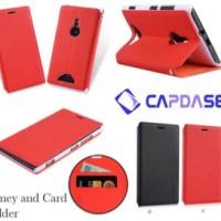 Sale Capdase Sider Baco Folder Case Nokia Lumia 925 Merah