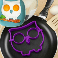 Burung Hantu cetakan omelette telur owl shape silicone mold