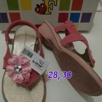 sendal sepatu anak pink bunga merk fladeo