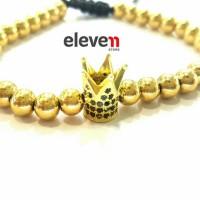 Premium Bracelet Anil Arjandas X Watchanish Gold Stone Hematite Import