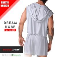 Baju Tidur Pria tipe Jubah Mimpi Abu-Abu