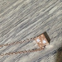 Jual kalung cube cartier love series rose gold