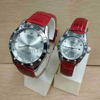ROLEX VIOS SEPASANG DARK RED COVER SILVER Z2HZ
