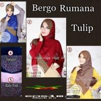 Jual Hijab/Jilbab Bergo Rumana Tulip Stylish Murah