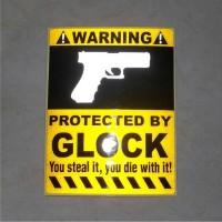 harga Stiker Sticker Glock Warning Tokopedia.com