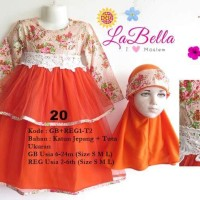 Baju Muslim/Gamis Baby Labella (Usia 6 Bln - 2th) GB1-T2 Orange No.20