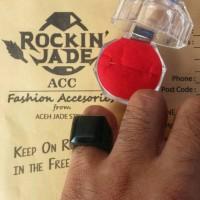 Jual Cincin Ring Black Jade Kotak Depan Murah