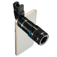 Lensa Tele zoom 12x Wide 70 - F20MM + Clip Jepit, For Smartphone & Tab