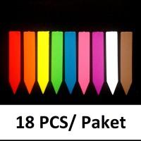 Label Nama/Tag Tanaman tebal plastik PE Rainbow Mix