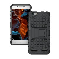 Tough Rugged Armor Case Build in Stand for Lenovo Vibe K5 Plus ~ Black