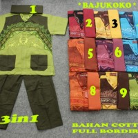 Baju Koko Anak |5-7thn| Baju Muslim Anak | Setelan Baju Koko