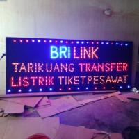 papan nama toko tulisan lampu led sign BRI LINK dan produk bank