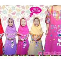Baju Muslim Anak | Baju Gamis Anak Daisy Duck | Baju Anak Perempuan