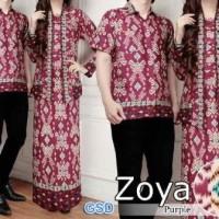 Baju Couple Muslim /  Batik Gamis /Pasangan cp zoya 10113