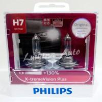 Philips X-Treme Vision Plus H7 55 Watt -Lampu Mobil Terang Xtreme 130%