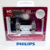 Philips X-Treme Vision Plus H1 55 Watt -Lampu Mobil Terang Xtreme 130%