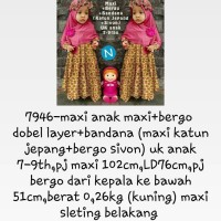 7946 Maxi Anak Bergo Double Layer + bandana